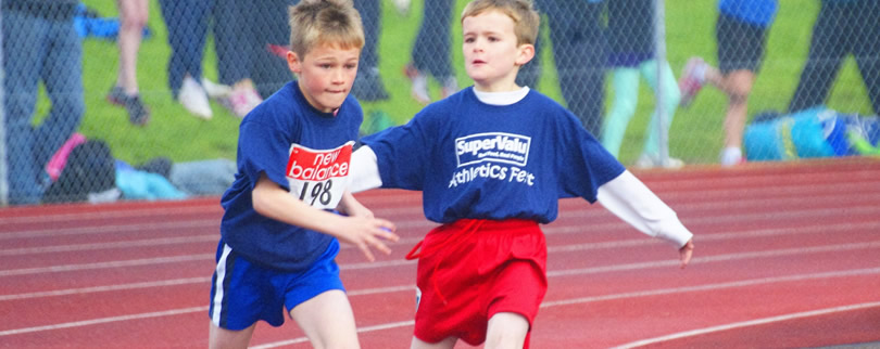 2 boys from St. Aidans Ballintrillick competing in running race in Sligo
