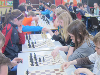 St. Aidans pupils Ballintrillick participating in chess competition